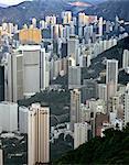 Hong Kong, Hong Kong Island, view on Mid-Levels from Victoria Peak