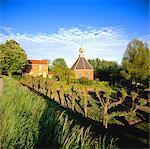 Gelderland, church of Boven-Leeuwen village.