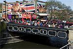 Brücke über den Regent's Canal in der Nähe von Camden Dorf, Camden Lock, Camden High Street, London NW1, England