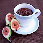 Figues avec coupe de Mousse au chocolat