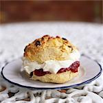 Scone with Cream and Jam