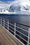 L'Antarctique vu du pont du navire de croisière