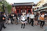 Girl Dressed as Cosplay Maid in Tokyo
