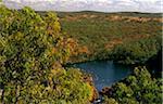 Australie, Northern Territory, nr de Jatbula Trail, Parc National de Nitmiluk Katherine. Le lac à Leliyn, ou Edith Falls.