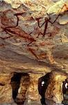 Australie, Northern Territory, terre d'Arnhem, nr Mt Borradaile. Art rupestre aborigène près de refuge « Major Art »