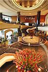Lobby of Grand Hyatt hotel, Hong Kong, China