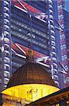 Legislative Council and HSBC buildings at dusk, Central, Hong Kong, China