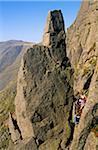 Climbers below Napes Needle, Wasdale Head, Cumbria