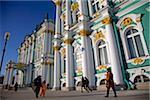 Russie, Saint-Pétersbourg ; Musée de l'Ermitage, conçu par Bartolomeo Rastrelli