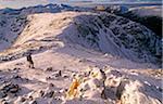 Walking in the mountains above Glencoe, Scottish Highlands