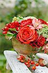 Bouquet de fleurs à l'extérieur