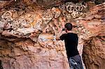 Australie, Australie-méridionale, Coober Pedy. Photographie nid souterrain de Crocodile Harry. Un emplacement dans le film Mad Max III.