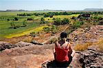 Australie, Northern Territory, Parc National de Kakadu. Donnant sur la plaine d'inondation de Nadab à Ubirr (PR)