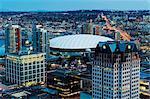 Kanada, British Columbia, Vancouver, Luftbild von der Innenstadt und BC Place Olympic Stadium