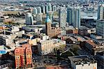 Kanada, British Columbia, Vancouver, Luftbild der Innenstadt, Gastown