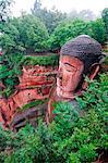 La Chine, la Province du Sichuan, Leshan, statue du Grand Bouddha