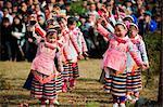 China, Guizhou Province, Sugao village, Long Horn Miao lunar new year festival