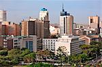 Kenya, Nairobi. Nairobi en fin soleil après-midi.
