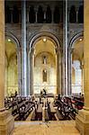 Portugal, Lisboa, Lisbon. Interior architectural detail of Se Cathederal.
