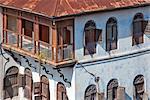 Tanzania, Zanzibar, Stone Town. The typical old style of buildings in Zanzibar s Stone Town..