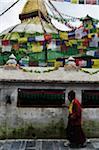 Pilgrim in Boudhanath, Boudhanath, Bagmati Zone, Madhyamanchal, Nepal