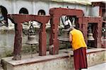 Praying Monk, Boudhanath, Bagmati Zone, Madhyamanchal, Nepal