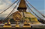 Wheel of Dharma and Stupa in Boudhanath, Bagmati Zone, Madhyamanchal, Nepal