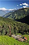 Dhaulagiri Himal vue depuis, Poon Hill, Annapurna Conservation Area, Dhawalagiri, Pashchimanchal, Népal