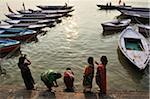 Rituel bain, Gange, Varanasi, District de Varanasi, Uttar Pradesh, Inde