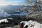 Winter Landscape, near Albstadt, Swabian Alb, Baden-Wurttemberg, Germany