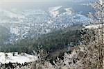 View of Albstadt-Laufen, Swabian Alb, Baden-Wurttemberg, Germany