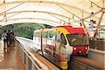 The Mono Rail Train system in Kuala Lumpur, Malaysia.
