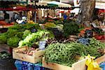 Vegetable Stand at Market, Aix-en-Provence, Bouches-du-Rhone, Provence, France