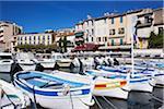 Bateaux ancré à Cassis, Bouches-du-Rhône, Provence, Côte d'Azur, France
