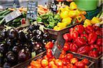 Gemüse-Stand auf dem Markt, AIX Bouches-du-Rhone, Provence, Frankreich