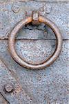 Close-up of Metal Door Knocker, Baden-Wurttemberg, Germany