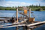 Fishwheel am Chena River auf Entdeckungstour Riverboat, Fairbanks, Alaska Interior, Sommer