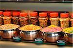 Indisches Essen-Shop in der Brick Lane, London, England