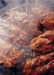 Viande sur une grille.