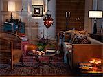 A cozy sitting-room.