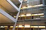 Walkways in modern office building