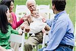 Family Adoring Baby Girl
