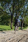 Man doing tricks with mountain bike