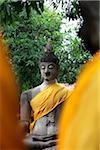 Bouddha de Pierre au Temple de Wat Yai Chaya Mongkol, Thaïlande