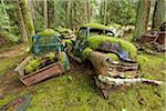 Cimetière de voiture, Valdes Island, Colombie-Britannique, Canada