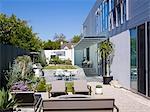 Modern landscape garden, Lagatutta Residence, Los Angeles, California. Architects: SPF Architects