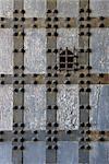 Naples. Castel Sant'Elmo, constellé de mur avec motif de quadrillage et fenêtre de prescription