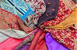 Tissu, teinturiers Souk, Medina, Marrakech, Marrakech-Tensift-El Haouz région, Maroc