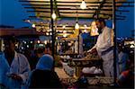 Food Vendor Cooking Snails, Djemaa El Fna, Marrakech, Morocco
