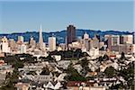 Du centre-ville de San Francisco, Californie, Etats-Unis